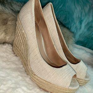 Coach Milan women's wedge pump beige tan heels
